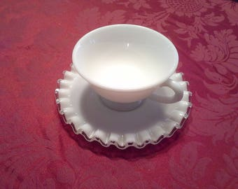 Silver crest fenton cup and saucer