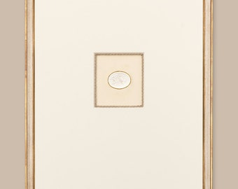 "Award Winning Framed Intaglios: Single Intaglio with Tiberian Signature Frame, 18 3/4"" x 23"""