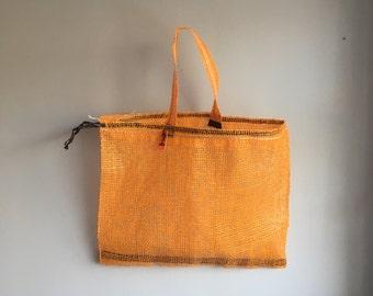 ghostnetgoods repurposed whelk net bag