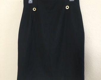 Celine Paris Vintage skirt size 42 100%wool