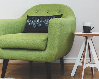 Rectangular Cushion with Sail Boats - Navy Rectangular Cushion - Nautical Cushion - Decorative Pillow - Coastal Theme