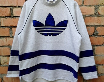 Vintage 90s Adidas Trefoil Sweatshirt Large Size