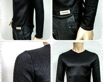 Men's pullover col v black-paris