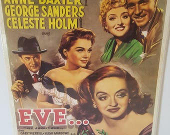 """FREE SHIPPING! 1950 """"All About Eve"""" With Bette Davis Belgium Lobby Card"""