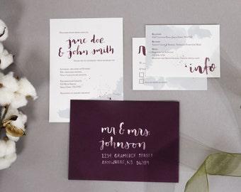 Wedding Calligraphy | Wedding Invite Addresses | Gramercy Street