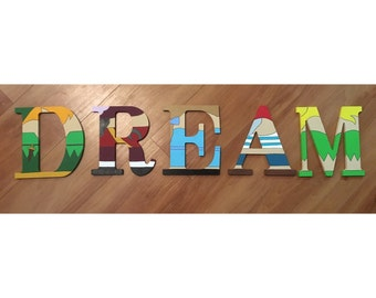 Peter Pan Handpainted Wooden Letters