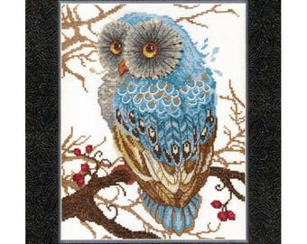 Cross Stitch Kit Silence in the forest (owl)