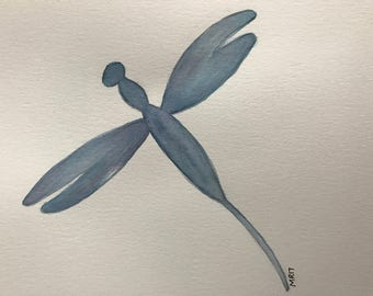 Dragonfly Watercolor Painting