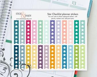 Star Checklist Stickers, Checklist Planner Stickers, Multicolor Planner Stickers, Erin Condren Life Planner Stickers.