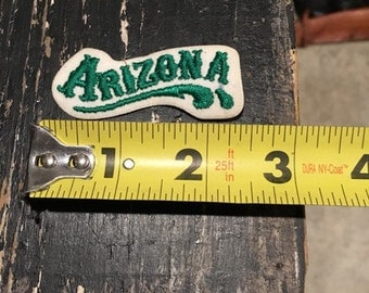 Vintage 80's Patch Small Arizona Green State