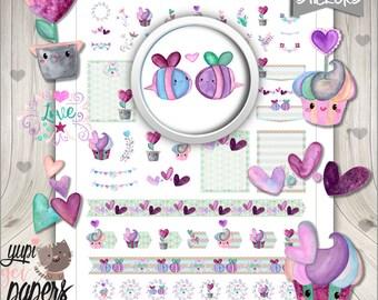 50%OFF - Valentine Stickers, Planner Stickers, Love Stickers, Valentine Planner Stickers, Valentines Day Stickers, Printable Planner Sticker
