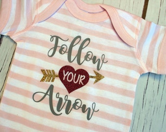 Infant bodysuit - Follow Your Arrow - one piece newborn