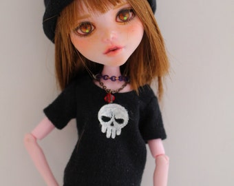Sale!! OOAK Monster High doll Clothing - Emo style