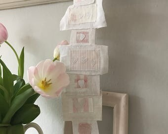 Sale French linen love letter bunting down