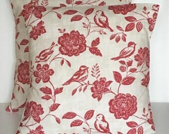 "2 x 16"" (40cm x 40cm) Iliv Bird Garden Peony Cushion Covers"