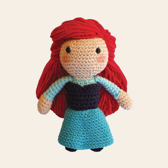 Ariel Girl - Disney Princess. Amigurumi Pattern PDF.