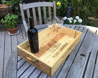 Wine crate serving tray