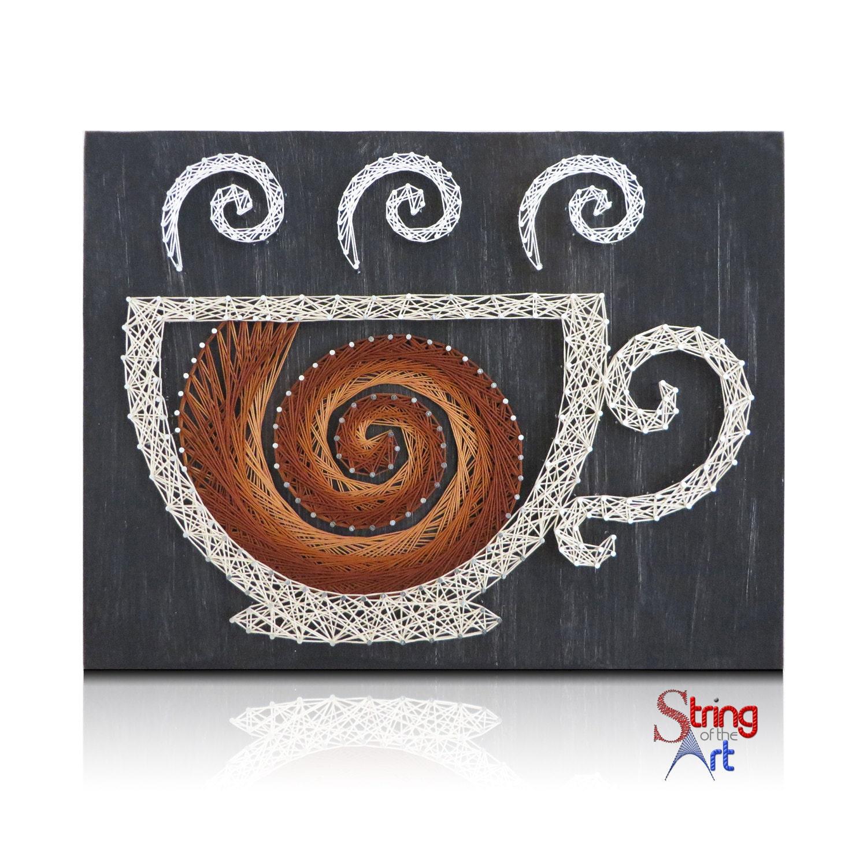 String art craft kit - Diy String Art Kit Coffee String Art Crafts Kit Diy Kit Coffee