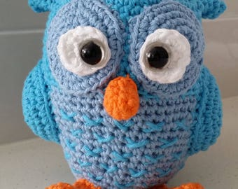 Hand Crocheted Otto the Owl