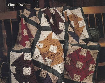 Quilt Afghans 3. Leisure Arts Crochet Pattern Booklet 2431