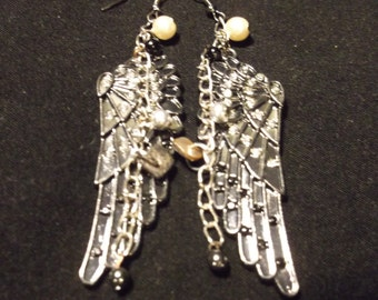 Black Angel Wing Earrings