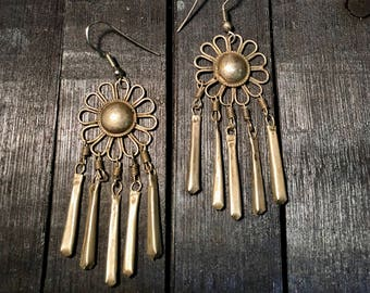 Vintage Navajo Sterling Silver Earrings   #175