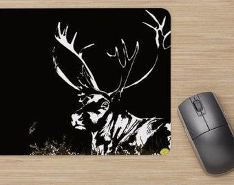 Mouse pad, the caribou, reindeer, deer, (various colors), image of reindeer, drawing of reindeer, painting of reindeer, image of caribou,