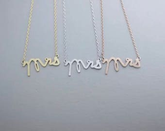 Mrs Necklace for Bride