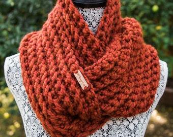 Chunky Ribbed Infinity Scarf / THE EVE / Handmade Crochet Scarf