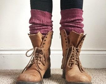 Long Wool Leg Warmers - knee high leg warmers, wool socks, boot socks, women's leg warmers, angora,