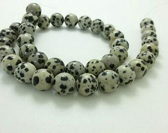 3  Full Strands 8mm 10 mm  Natural Dalmatian Jasper Beads , Gemstone Beads , Stone Beads , Gemstone jewelry , beads , Findings , supplies