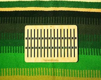 pocket double holed rigid heddle tape loom band weaving belt loom viking craft saami