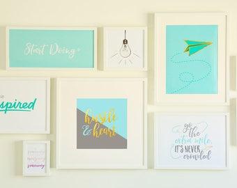 Gallery Wall Bundle - 10 Printable Signs