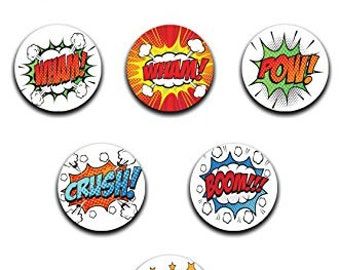 A pack of 9 comic bubble theme Pattern weights Ideal for weighing down patterns on delicate fabrics no need for pins TV sewing Bee