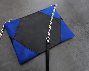 Cover the Adorable black and electric Blue Suede