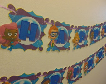 Bubble Guppies Banner , Bubble Guppies, Birthday Banner , Bubble Guppies  Party