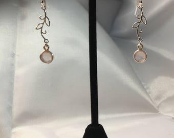 Rose quartz earrings