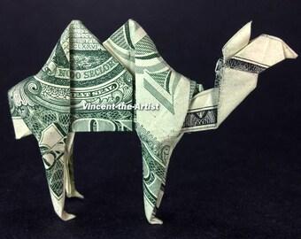 CAMEL Money Origami Dollar Bill Animal Cash Sculptors Bank Note Handmade Dinero