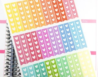 Functional - Heart Check List - Pastel | Planner Sticker, Check List Sticker, Todo List, Functional Sticker, Appointment Label, Rainbow