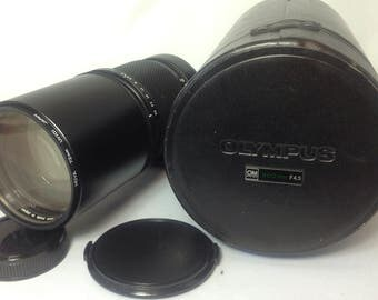 Olympus OM fit Zuiko 300mm f.45 prime lens with case