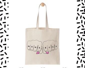 Mama Boss Tote Bag • Mama Boss Bag • Cool Shopping bag • Mama Boss • Mum Gift • Cool Mum Gift • Tote Bag • Screen Printed Bag