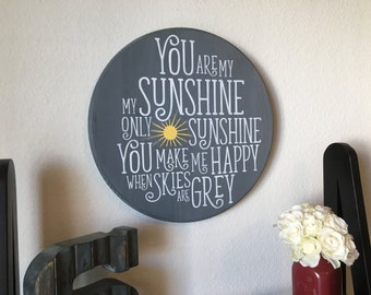 You Are My Sunshine Sign, Wood Sign, Baby Room Decor, Baby Shower Gift, Rustic Home Decor, Farmhouse Decor, Wedding Gift