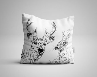 Woodland Friends Cushion Cover