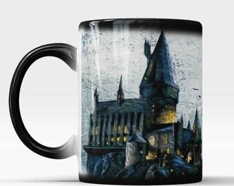 Heat changing mug, Wizard mug, Birthday present, Gift for Friend, gift for student