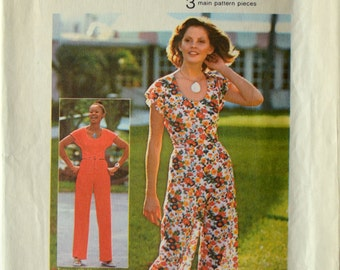 Uncut 1970s Simplicity Vintage Sewing Pattern 6920, Size 16; Misses' Wrap Top and Pants