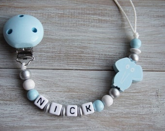 Baby Boy Pacifier Chain