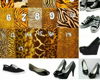 Pick your desired animal print shoes