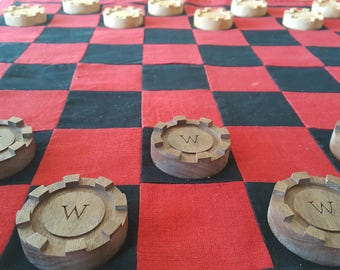 Large Wood Checkers