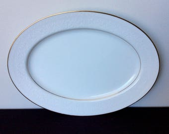 "Noritake Guenevere 13"" Oval Serving Platter"