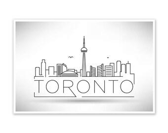 Toronto Skyline Line Art Poster